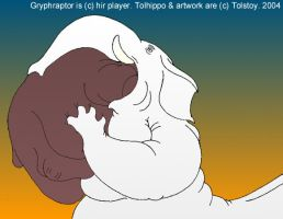 Gryphraptor meets Tolhippo by Tolstoy