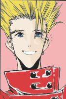 Vash: smile by peachwarrior