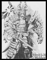 dragon samurai warrior by inkwork27