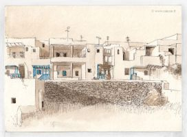 Dwellings in Sifnos by zancan