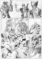 X-Force Sample Page 1 - A3 pencil by IgorChakal