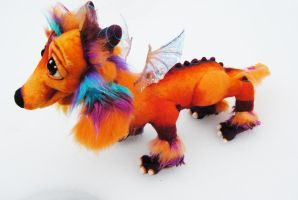 Fire Dachshund Dragon by Tanglewood-Thicket