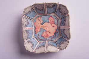 Illustrated Pottery: Koi by MadeinPlute