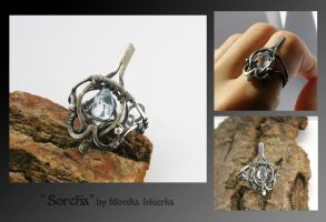 Sorcha- wire wrapped ring by mea00