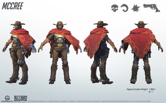 Mccree - Overwatch - Close look at model by PlanK-69