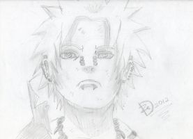 Pain Sketch by Dazed--Flame