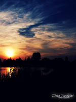 sunset at the lake by szdora91