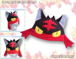 Litten Hat by AnimeNomNoms