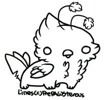 :Free Use Griff Lineart: by PrePAWSterous
