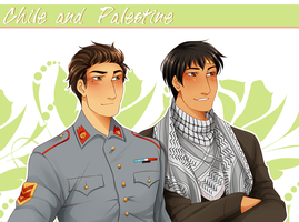 .:APH:. Chile and Palestine by kamillyanna