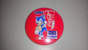 Sonic Coca Cola Pin Badge by spaceman022