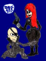 Nick Fury and the Black Widow by SonicClone