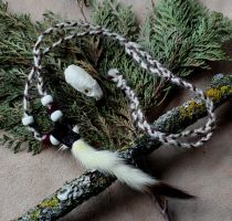Ermine Tail Necklace by lupagreenwolf