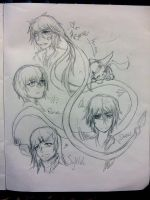 [EoT][Sketches] - Hisame and Co. by Daii--Chan