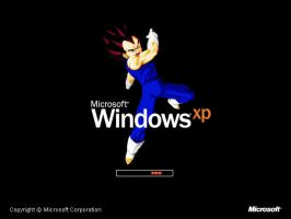 Vegeta Windows XP Bootskin by LordDiablo006