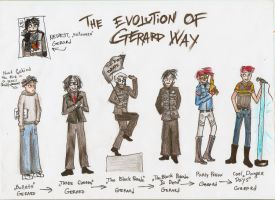 The Evolution Of Gerard Way by BadBloodKilljoy