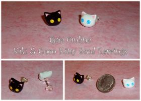 Gaia Online - Kiki and Coco Charm Stud Earrings by YellerCrakka