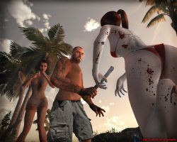 Francis in Dead Island by Dinnyforst