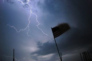 The Storm behind the Flag by foxblood702