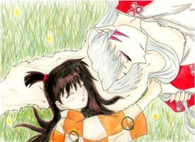 Rin and Sesshomaru by hieislover07
