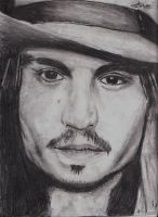 Johnny Depp - graphite pencil by chris-project