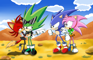 Anti Classic Couples - Sonic CD version by SILVERtheHEDGEHOGyes