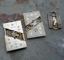 Reconstructed Watch Face Pendants by AMechanicalMind