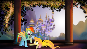 Rainbowdash and Fluttershy BG (not mine) by xVoomertx