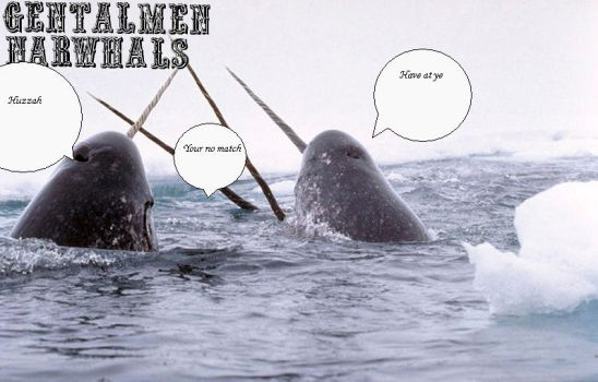 GENTALMEN NARWHALS by demonic-secrets