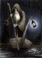Charon Classic Mythology Sketch Card by RichardCox