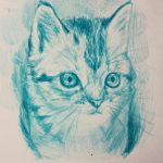 #Blue Kitty by Batschi96
