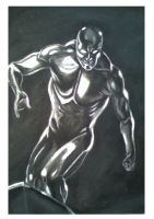 Charcoals: Silver Surfer by marron