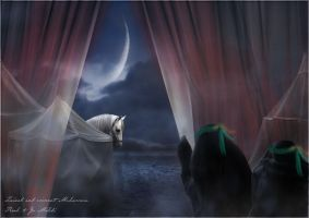 Zainab and crescent Muharram by fo9fo9