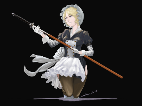 Maid with Great Sword by DarkBearLab