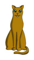 Skinny Brown Cat by valsgalore