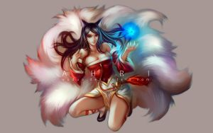 League of Legends - Ahri by WUDUO