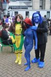 X-Men cosplays, our Mystique in the centre by HobbyFX