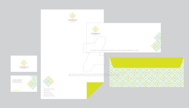 Jariwala Prints stationery 2 by grafficjam