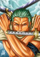 Zoro by MauroIllustrator