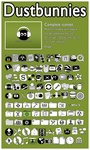 Dustbunnies Full Icon Set by LineBirgitte