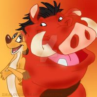 Timon and Pumba by ZiraLovesScar