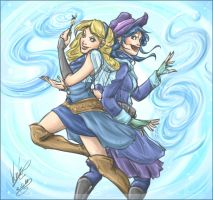 Lucy and Juvia - Teamwork by sarumanka