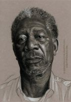 Morgan Freeman by AmBr0