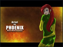Ariel as Phoenix Wallpaper by UDeeN