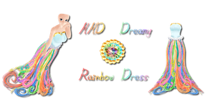 MMD Dreamy Rainbow Dress by Tehrainbowllama