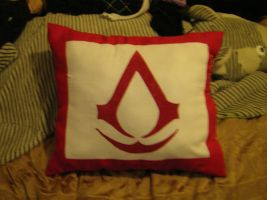 Altair Inspired Assassins Creed Pillow by AllenGale