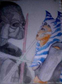 Ahsoka vs Vader by Nightmare220