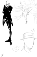 Slenderman doodles by jessaraeisawesome