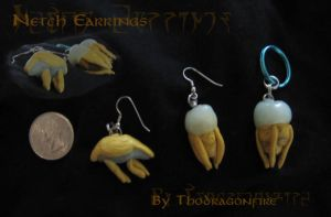 Betty and Bull Netch Earrings by Boarfeathers