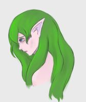 Elf Girl Sketch by sephicent13